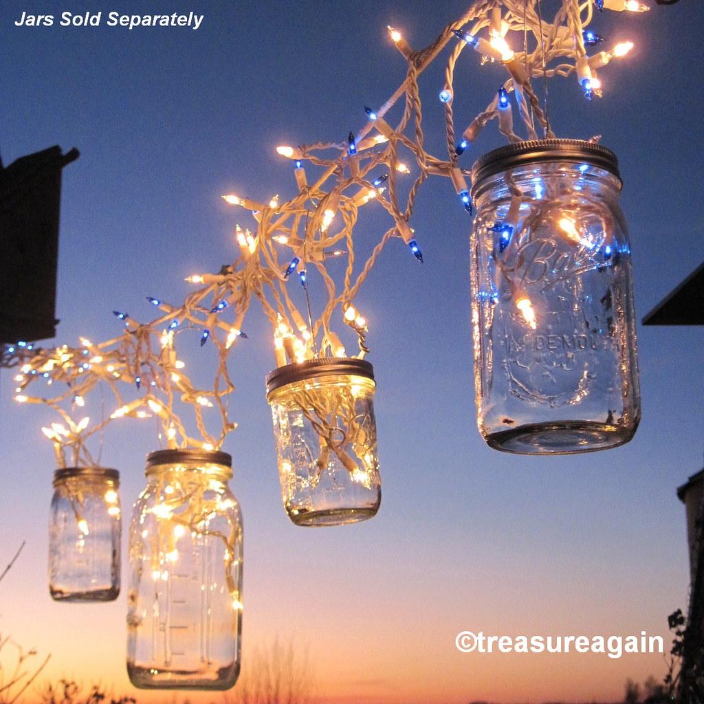Fairy Lights Lanterns 6 Diy Mason Jar Hangers Twist On Hanging Wide Mouth