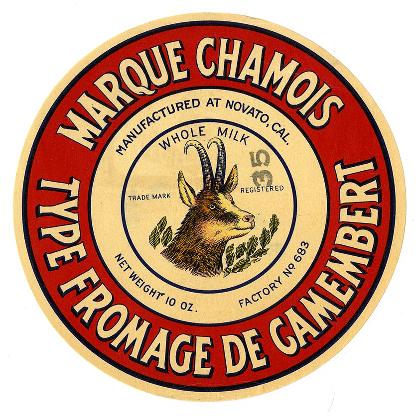 Fromage de Camembert, Marque Chamois, Lehmann Printing and Lithographing Co. | by California Historical Society Digital Collection