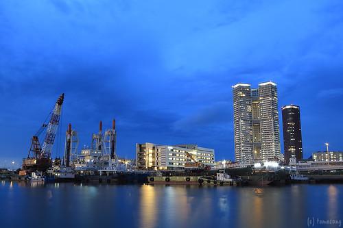 Island city at Night