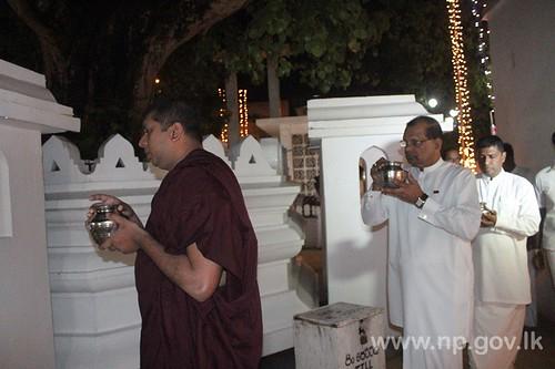 Special Bodhi Pooja to mark the President's Birthday - 18 November 2014