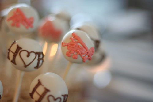 Wedding Monogram cake pops | by Sweet Lauren Cakes