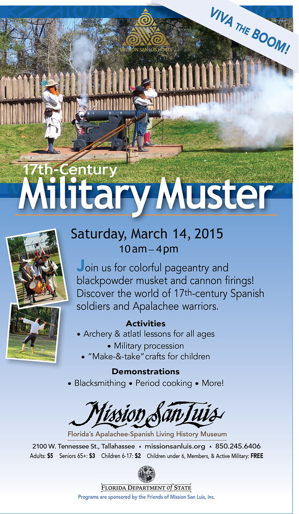 17th century military muster 2015 flyer by missionsanluis - Flyer Muster