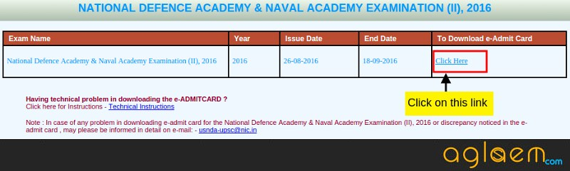 UPSC NDA Admit Card 2018 Released. Download Hall Ticket