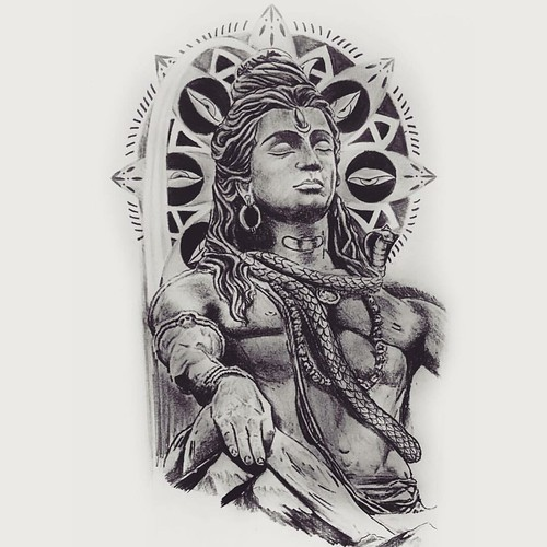 #Lord #Shiva #Tattoo #Design . #Available To #commission A