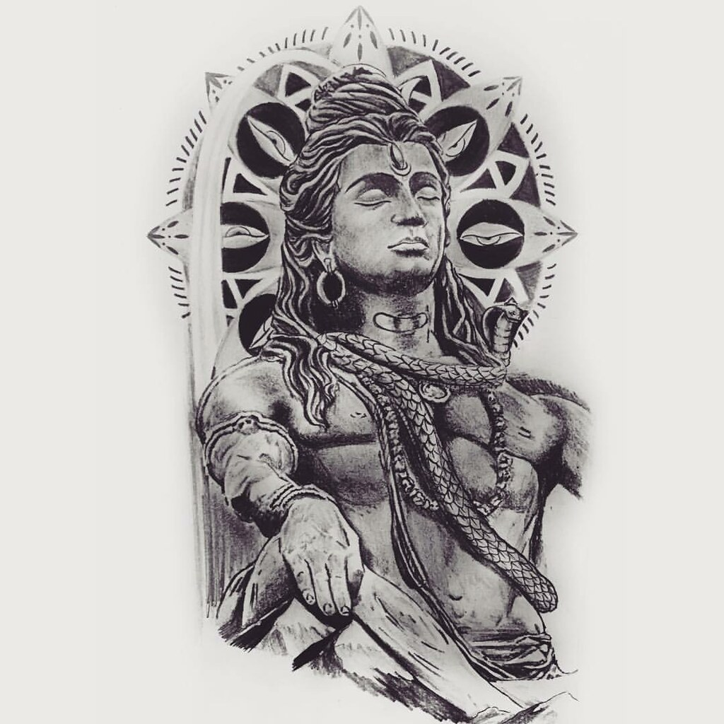 lord shiva tattoo design available to commission a flickr. Black Bedroom Furniture Sets. Home Design Ideas
