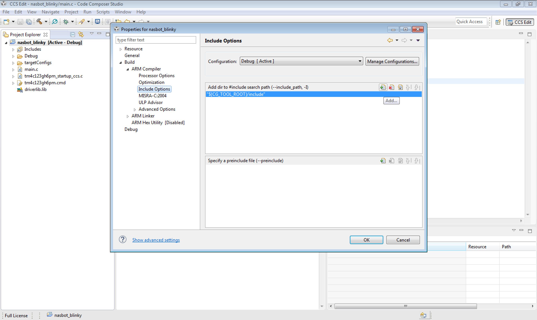 NaSBot] Hướng dẫn tạo project mới với Tiva C Launchpad