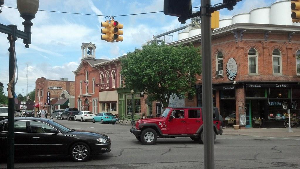 43 Chelsea Michigan The Old Corner Drug Store Building W