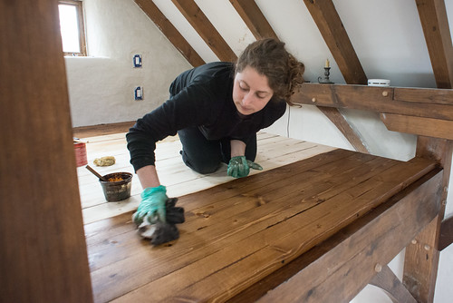 Tara Staining Loft Floorboards | by goingslowly