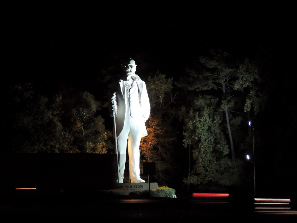 general sam houston at night amazing humongous statue of t flickr