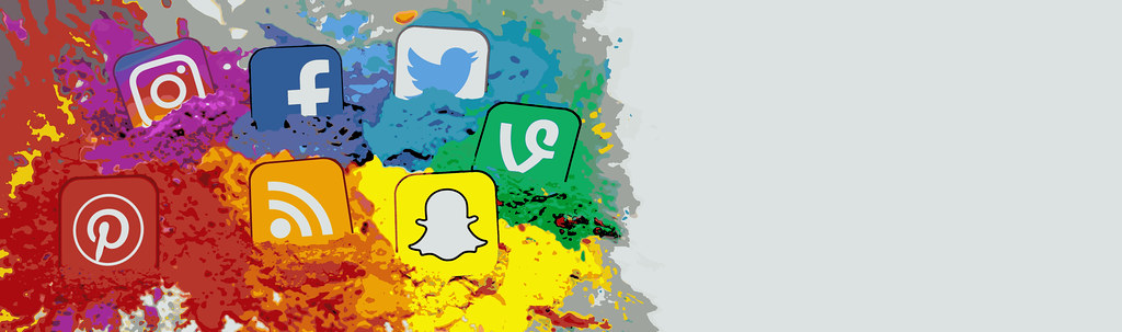 Social Media Icons Color Splash Montage - Banner | All conte… | Flickr