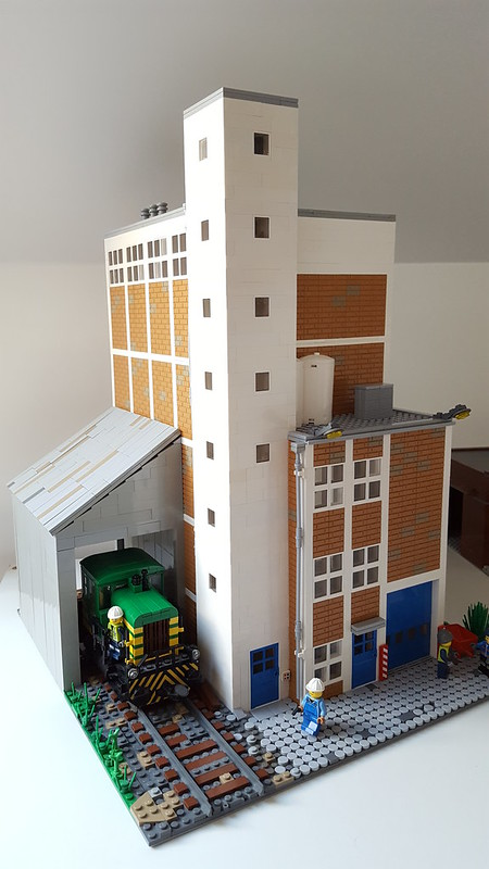 Moc Grain Elevator For New Layout Lego Train Tech