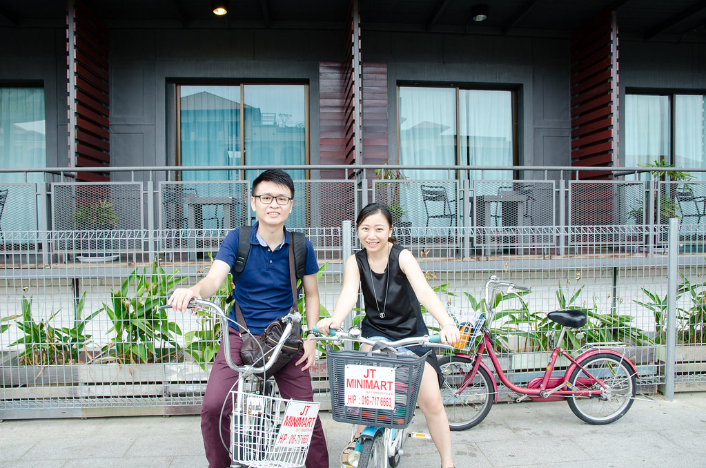 Laupoh and me posing with our bicycles.