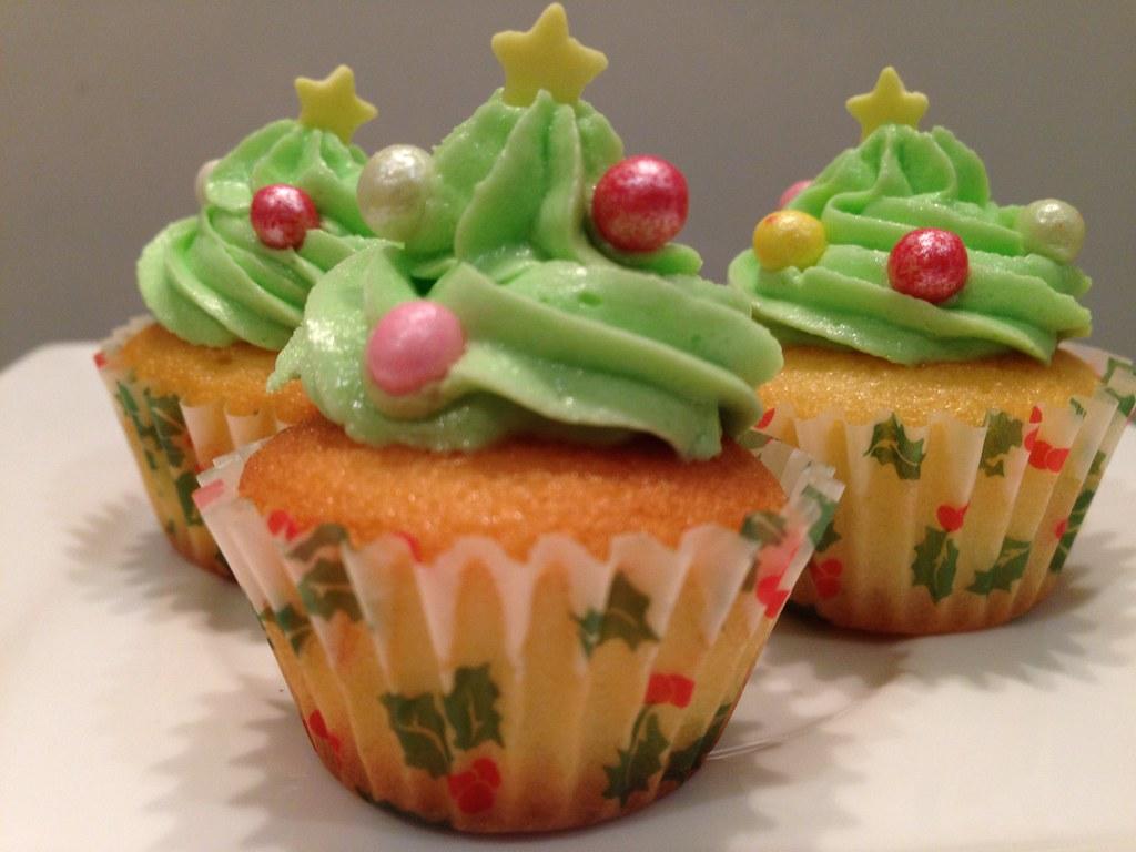 Mini Christmas Tree Cupcakes Christmas Baking Cake Cupcake Flickr