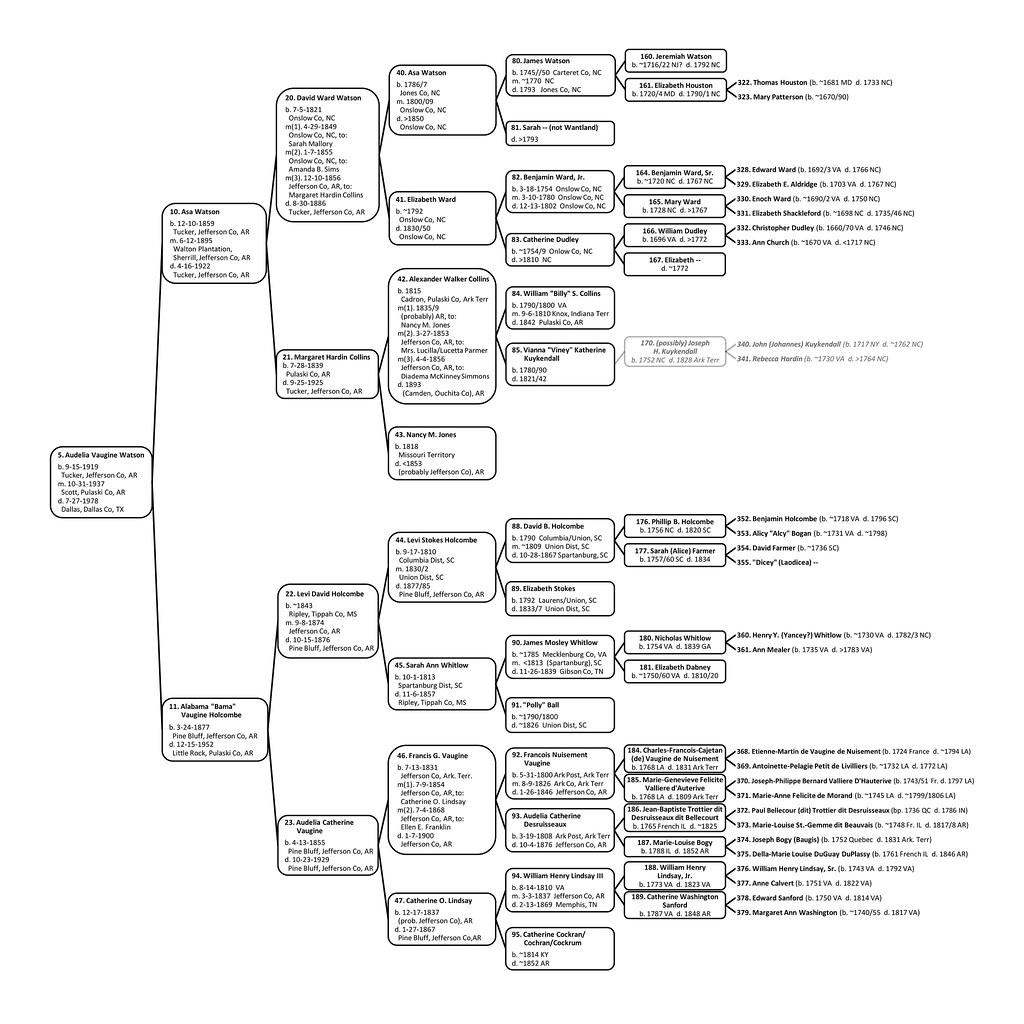 20 Generation Pedigree Chart: audeliavauginewatsonpedigree-1 | Six generation pedigree chau2026 | Flickr,Chart