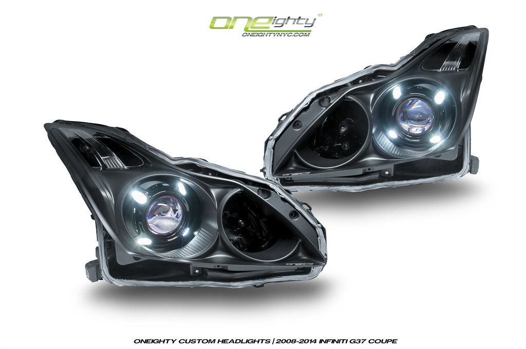 Infinti G37 Coupe Custom Headlights By Oneighty This G37