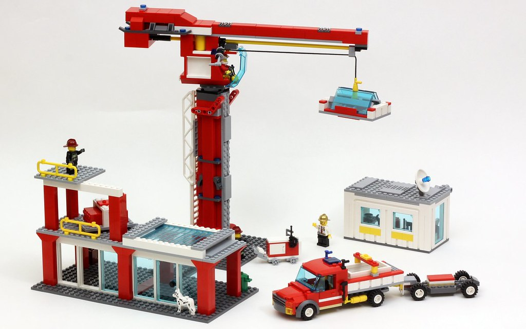 Construction Site 60004 Fire Station Alternate Model Flickr