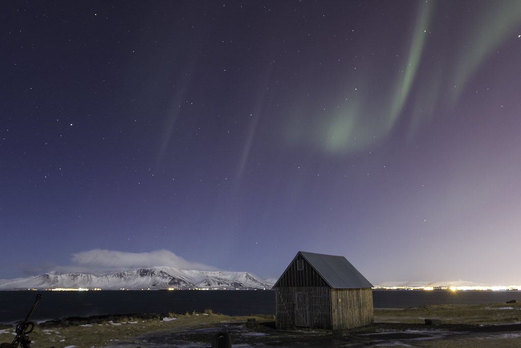 Aurora over Faxaflói