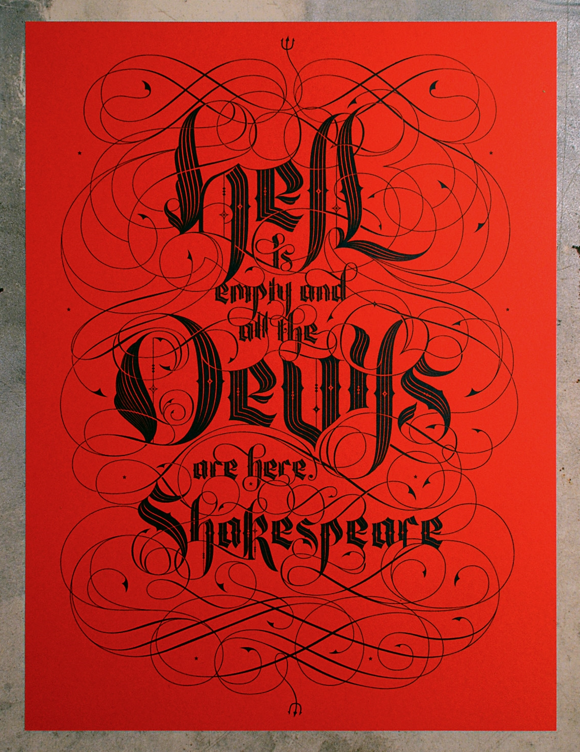 Nate Carter Hell is Empty Shakespeare Screen Print