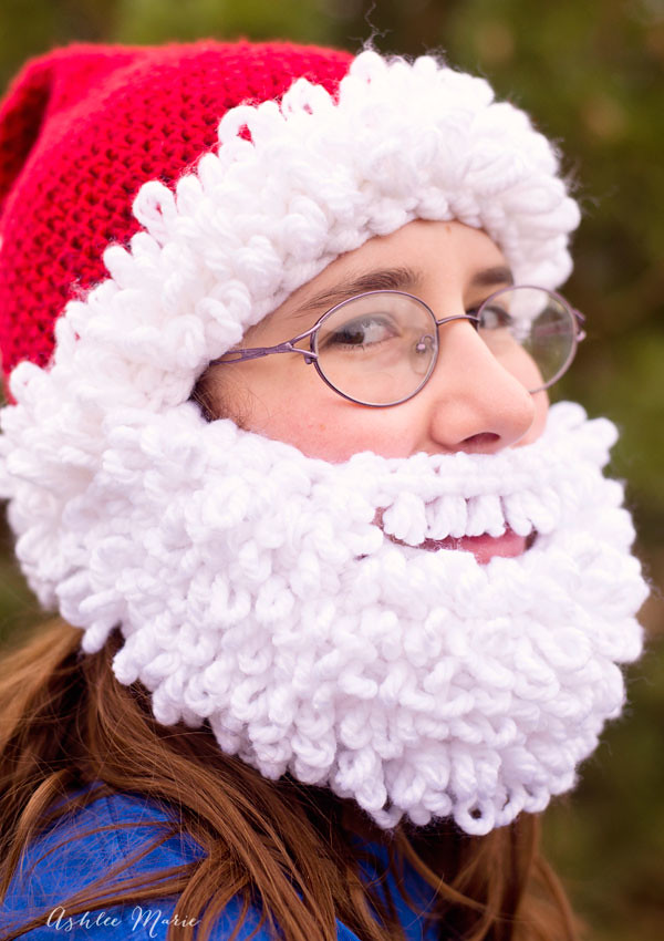 Bearded Santa Beanie Crochet Pattern With A Full Double Lo Flickr
