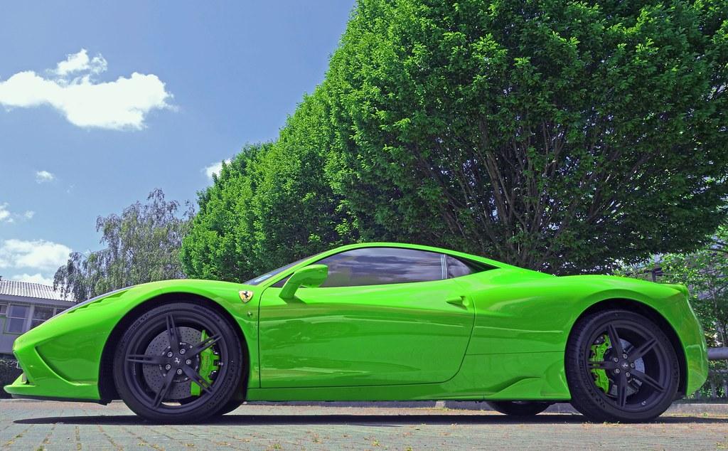 ferrari 458 speciale in green by czd72 - Ferrari 458 Spider Green