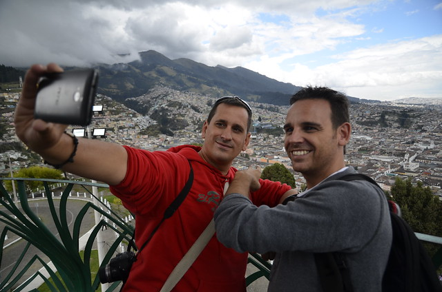 Sele e Isaac en Quito (Ecuador)