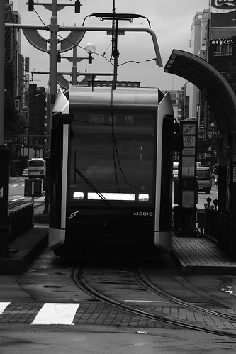 Tramcars at Sapporo in early morning on JUL 20, 2016 (20)
