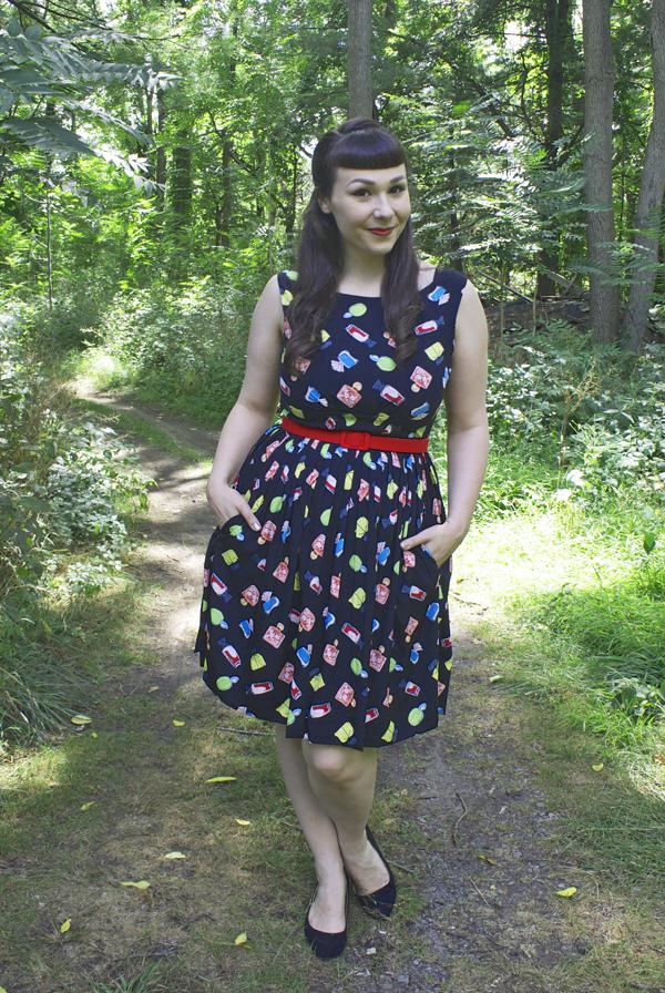 perfume print dress