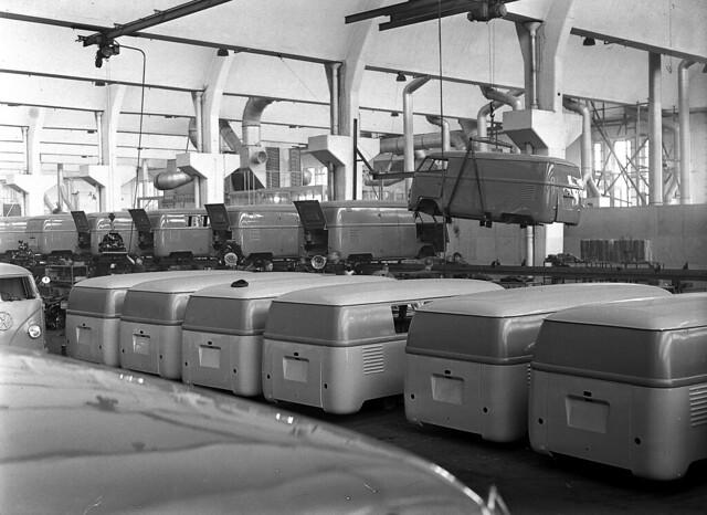 Производство VW Transporter T1. Завод Volkswagen в Ганновере