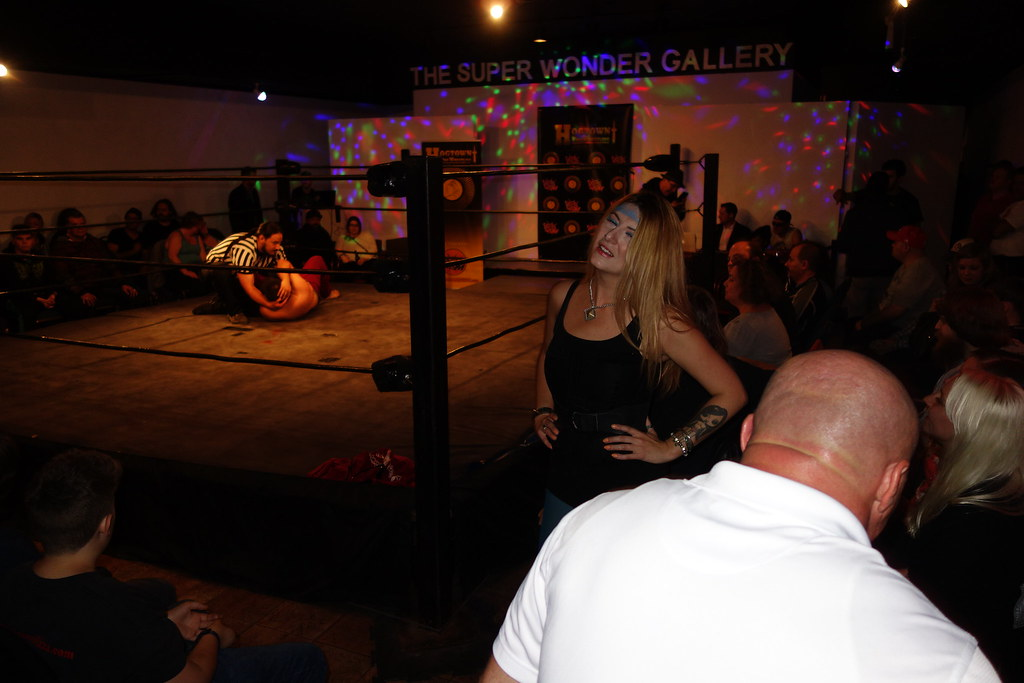 Raymi reocking the wrestling ring at Hogtown Wrestling in Toronto