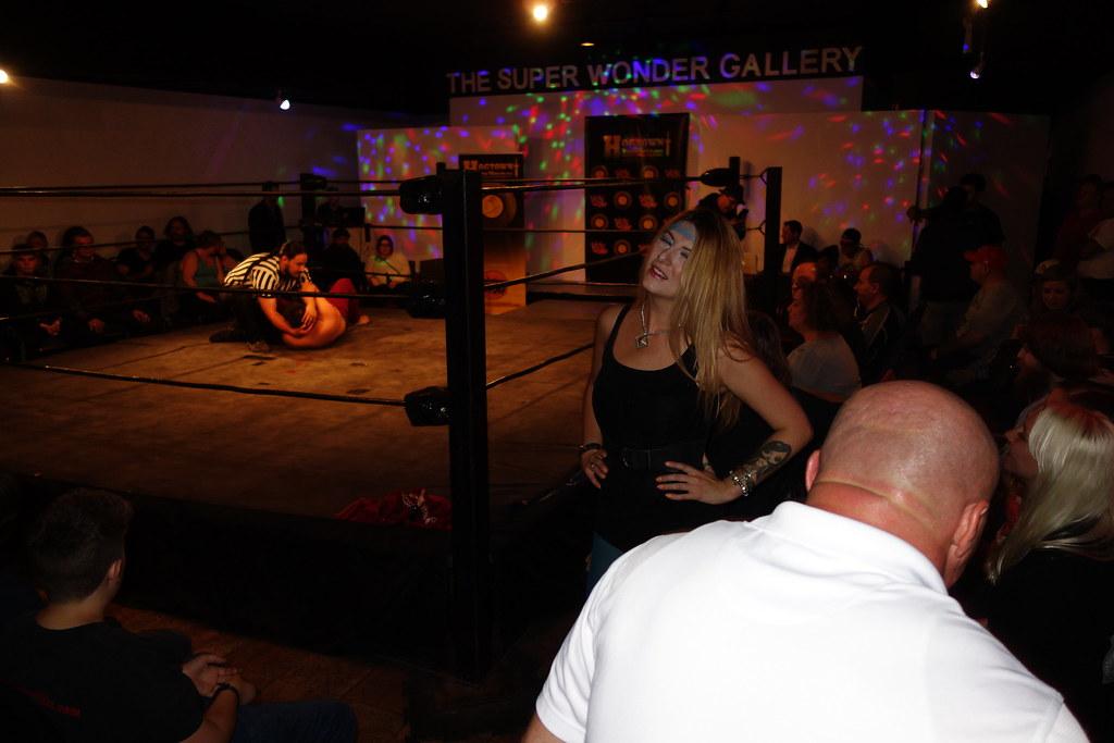 Raymi reocking the wrestling ring at Hogtown Wrestling in Toronto