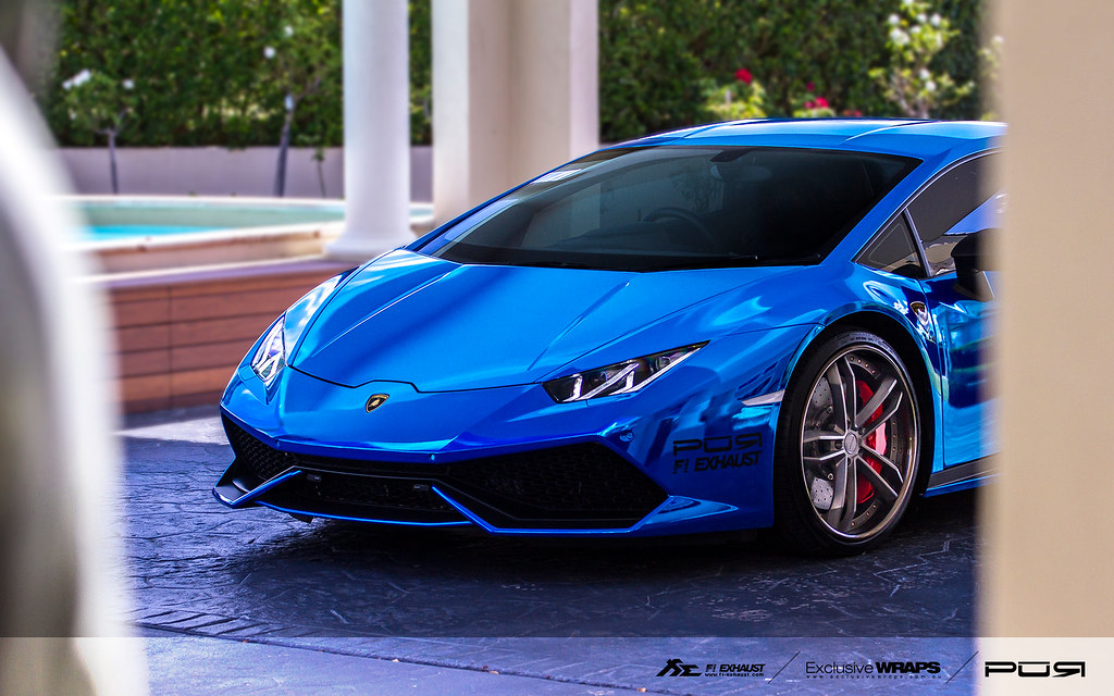 Chrome Blue Lamborghini Huracan Lp610 With Fi Exhaust Flickr