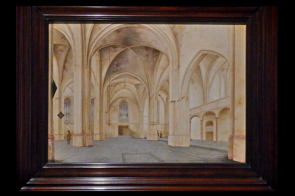 het interieur van de cunerakerk in rhenen 01 1655 saenredam pj mauritshuis den haag 2015
