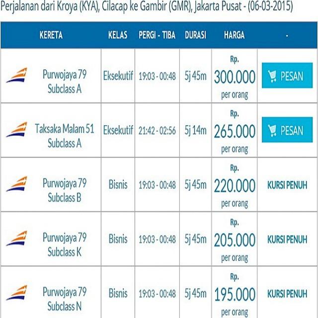 Kroya Cilacap Gambir Jakarta Mar 6 2015 Ayo Booking Onli Flickr
