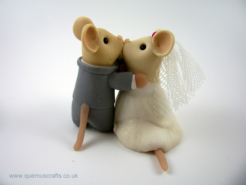 mice wedding cake toppers wedding mice cake topper quernus crafts flickr 17333