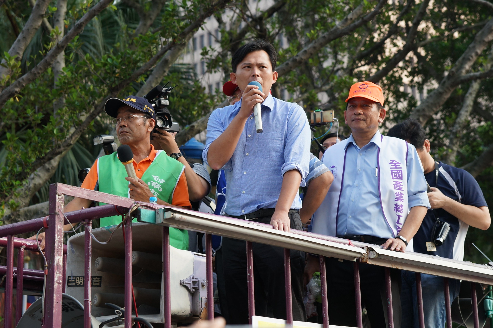 黃國昌表示時代力量主張上次衛環委員會會議無效,明天將有具體動作。(攝影:王顥中)