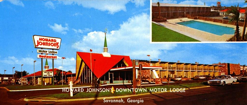 Howard Johnson 39 S Downtown Motor Lodge Savannah Ga Foot