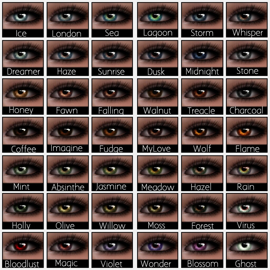 Ddg lucid eye colour chart lucid eyes system mesh ey flickr lucid eye colour chart by aiyana nirvana geenschuldenfo Images