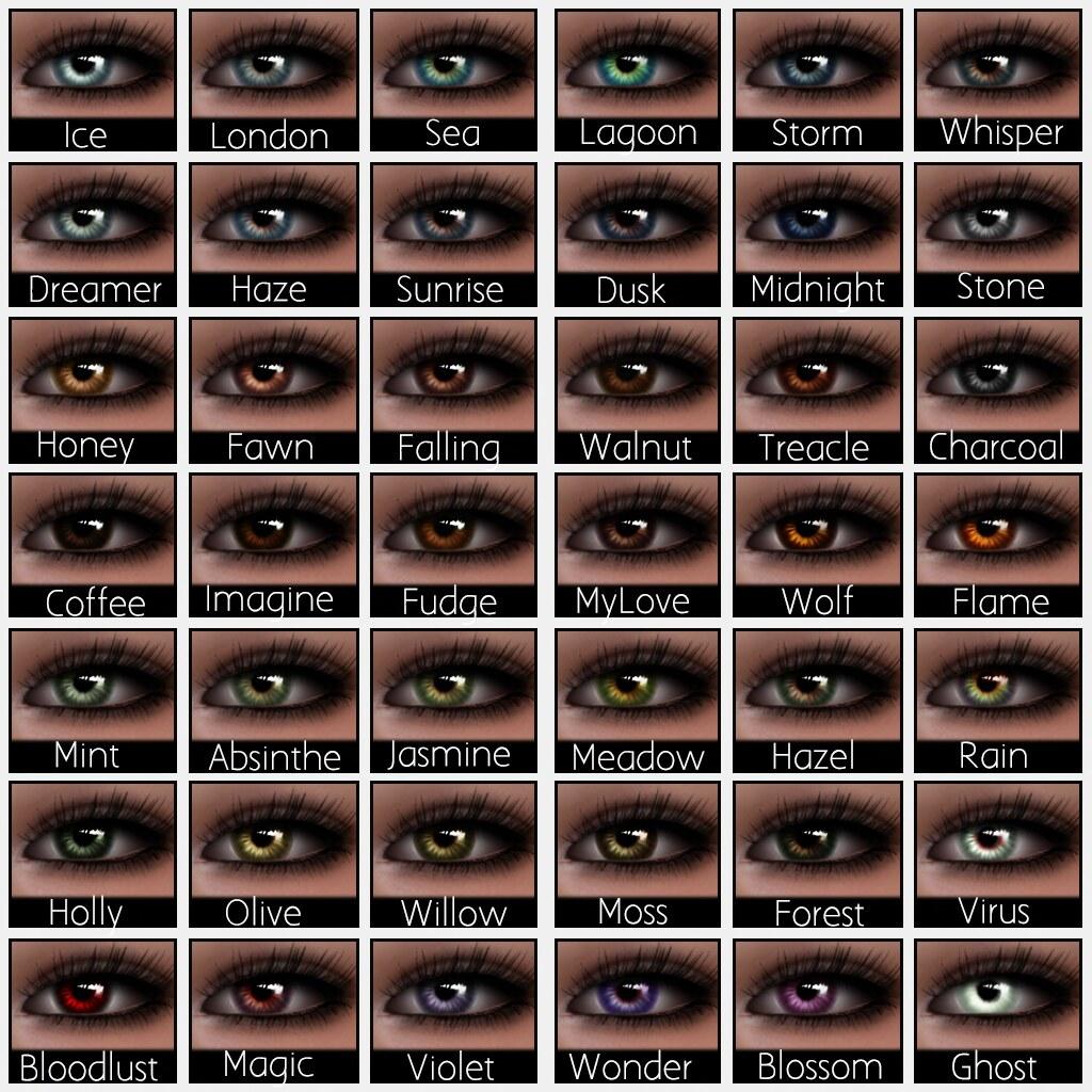 Ddg lucid eye colour chart lucid eyes system mesh ey flickr lucid eye colour chart by aiyana nirvana nvjuhfo Choice Image