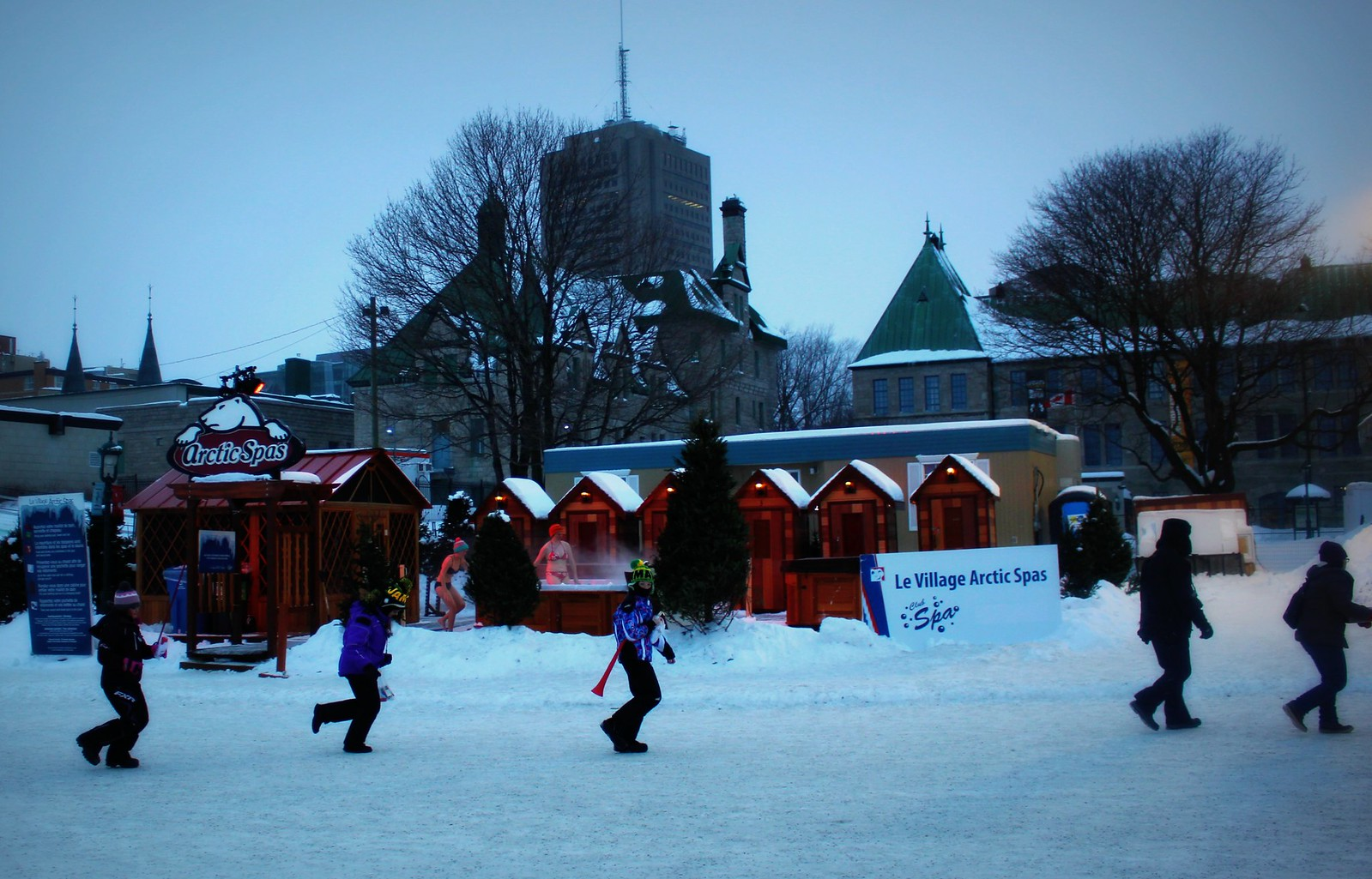 Winter Entertainments At Carnival In Quebec