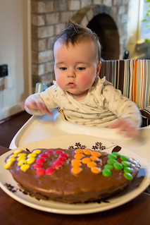 Half birthday = half a birthday cake