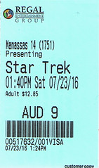 Star Trek Beyond ticketstub