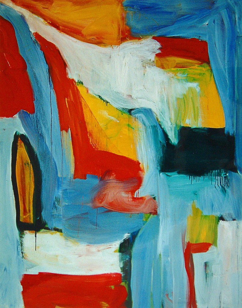 1998 39 large abstract oil painting no dutch art for Oil paintings for the home