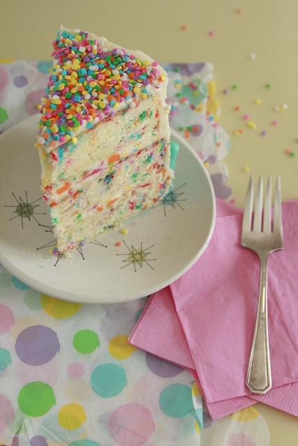 Rainbow Chip Funfetti Cake