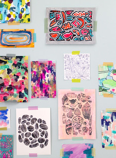 Another Detail of Paintings from 2014 on Wall | by Anika Starmer – A is for Anika