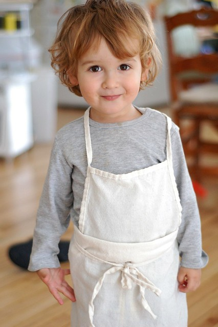 My budding chef-let by Eve Fox, The Garden of Eating, copyright 2015
