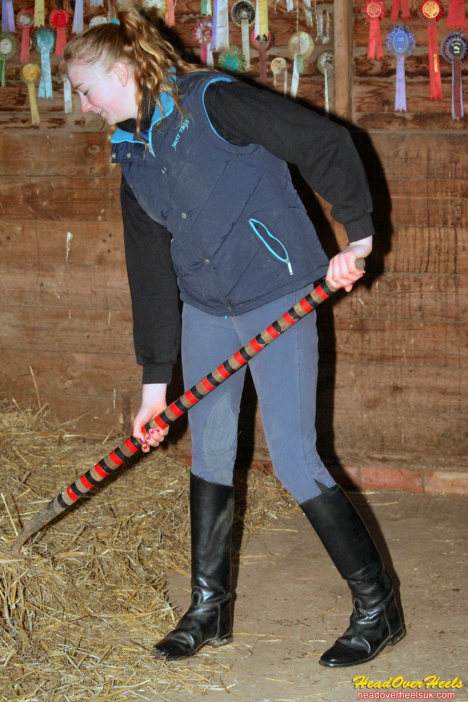 Cleaning Out The Stables Wearing Leather Riding Boots Flickr
