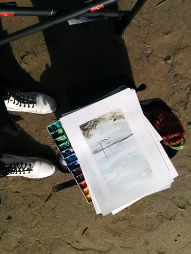 tools y brushes from fellow sketchers × sunday sketch group meeting: half moon bay | by meligrosa