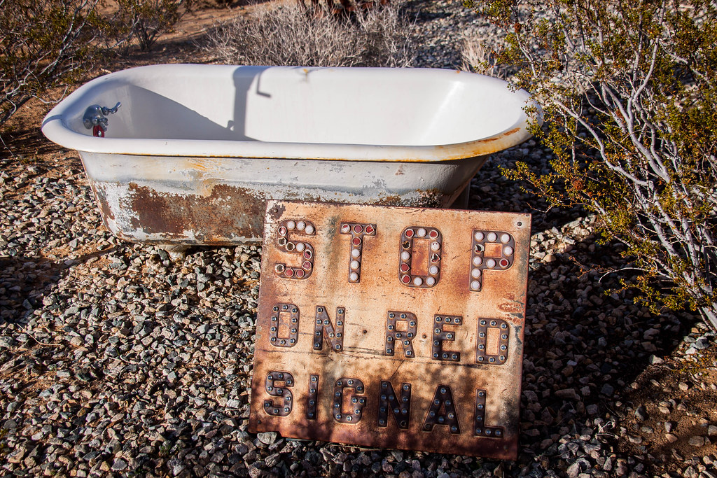 Tub and Stop Sign - Yucca Valley, CA   Chris Goldberg   Flickr