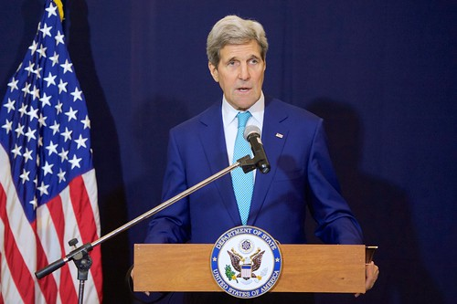 Secretary Kerry Addresses Reporters Amid Egyptian Development Conference in Sharm el-Sheikh