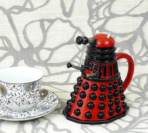 Doctor Who Dalek Milk Jug by Jadeflower Ceramics on Etsy.